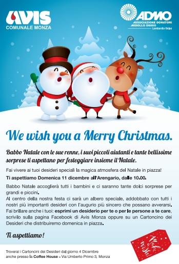 Il Natale in piazza di Avis Monza, tra Babbo Natale e Albero dei desideri