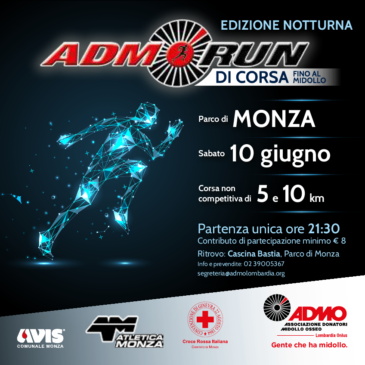 A Monza di corsa per sostenere l'ADMO