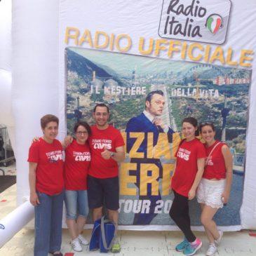 I volontari brianzoli impegnati nei concerti di Tiziano Ferro a San Siro