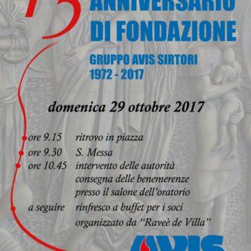 Il gruppo di Sirtori festeggia il suo 45° di fondazione
