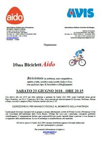 A Giussano l'Avis pedala con la BiciclettAido