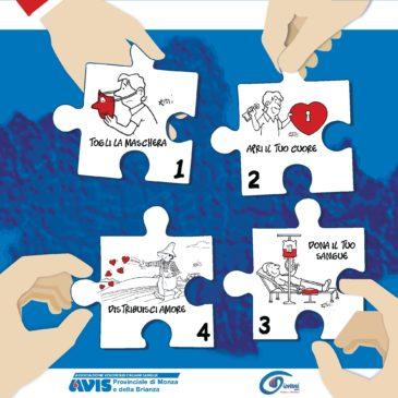 La cartolina di Avis provinciale MB per la Giornata Mondiale del Donatore di Sangue
