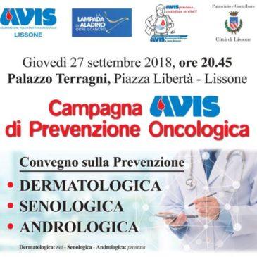Avis Lissone, una serata dedicata alla prevenzione oncologica