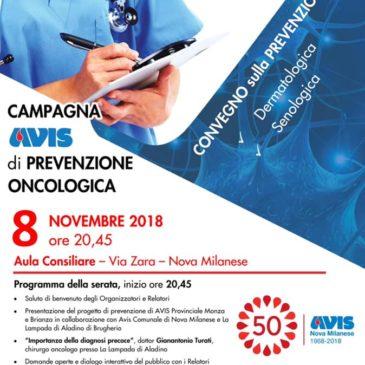 Serata di salute e prevenzione a Nova Milanese