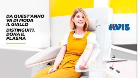 """""""Va di moda il giallo"""": la campagna AVIS per la donazione di plasma"""