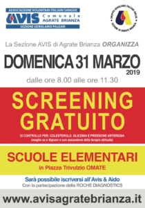 Screening della salute con Avis Agrate