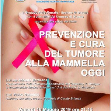 Prevenzione e cura oncologica, ne parla Avis Renate