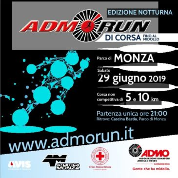 Pronti a correre con ADMO Run 2019