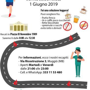 L'autoemoteca fa tappa a Muggiò: raccolta straordinaria!