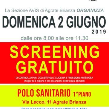 Screening gratuito con Avis Agrate