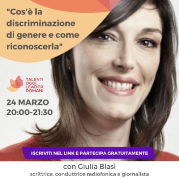 Giulia Blasi, contro gli stereotipi di genere