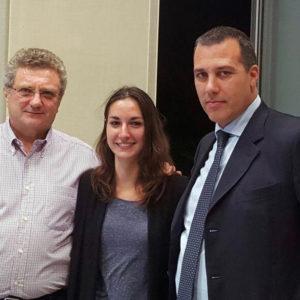 da sinistra, Gianluigi Molinari, Sara Re Sartò e Oscar Bianchi, presidente AVIS Lombardia