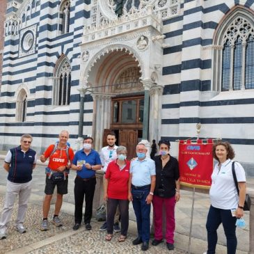 Maurizio Grandi, da Trieste…in Brianza. Che giornata! E il cammino prosegue. Fino ad Aosta.